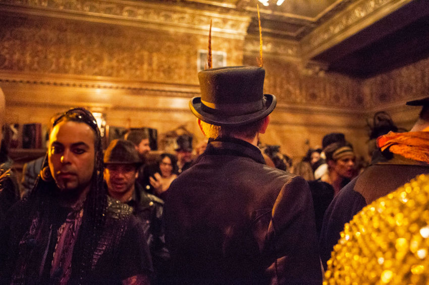 Arts Culture And Entertainment Back View Costume Creativity People And Places Telling Stories Differently Edwardian Top Hat Waist Up Young Adult Fantastical & Magical Selective Focus Head And Shoulders Edwardian Ball Fantastical And Magical Fantastical Colors Art And Craft Mardi Gras Focus On Foreground Festival Fashion Masquerade Follow Me To Original Experiences 43 Golden Moments