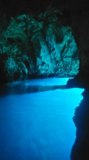 Beauty In Nature Blaue Grotte Blue Blue Grotto Calm Cliff Geology Nature Ocean Physical Geography Rock Formation Sea Water