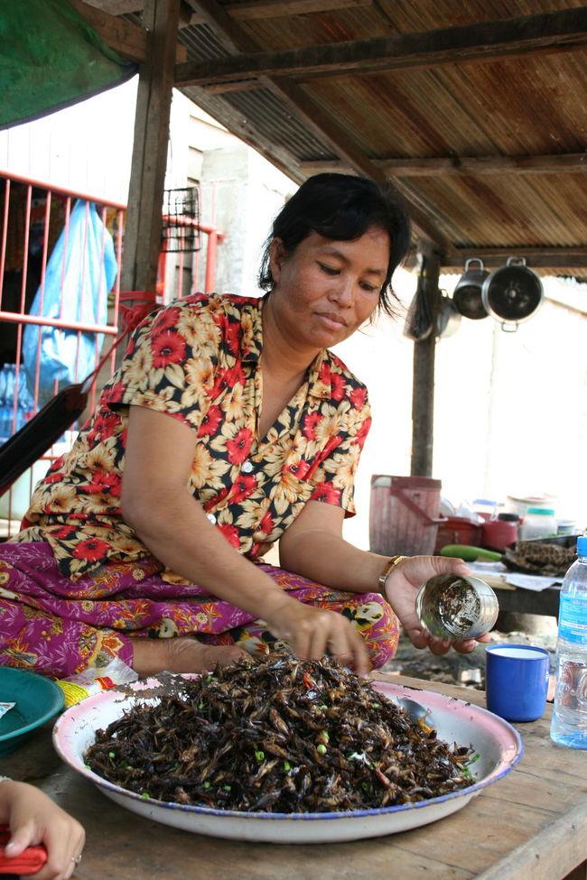 Cambodia Cambodian Food Cambodian Village Crickets Fried Crickets Market Tonle Sap Tonle Sap Lake Village Market Women Who Inspire You
