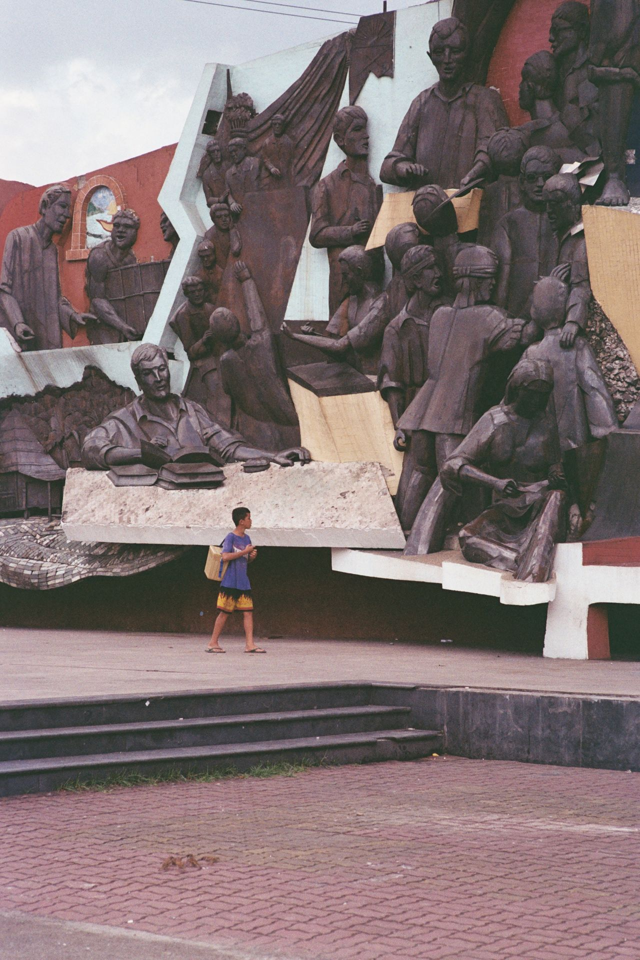 stuck in his story. Kartilya Ng Katipunan Shrine Manila Philippines Architecture Film Photography 35mm Film Film Phoptography Photowalk Olympus OM1 Olympus Om1 Unfiltered Unedited Shrine Monument