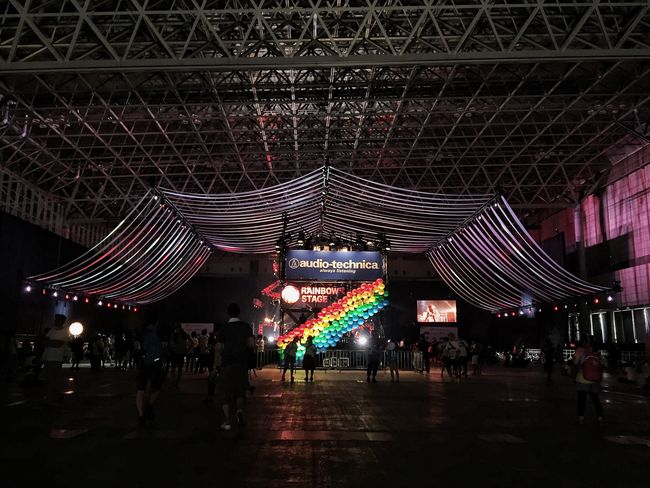 Summer Sonic Summer Festival Rainbow Stage Pattern Eye4photography  Live Architecture Stagephotography IPhoneography Silhouette Music Life Style