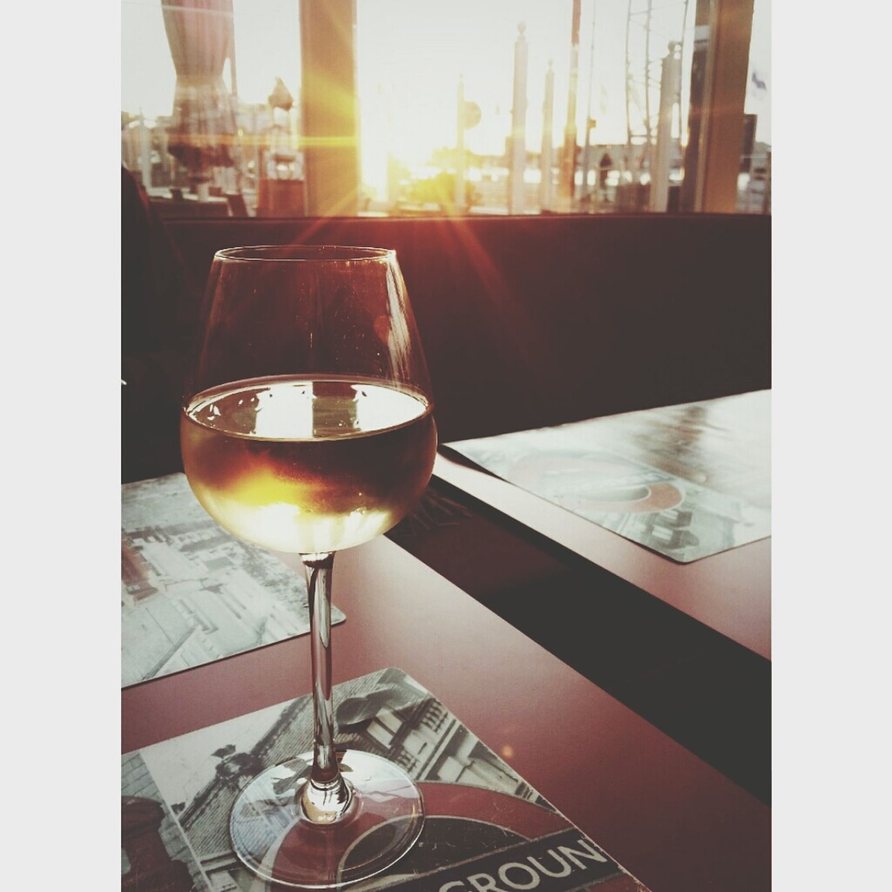 White Wine Autumn Sunset♥