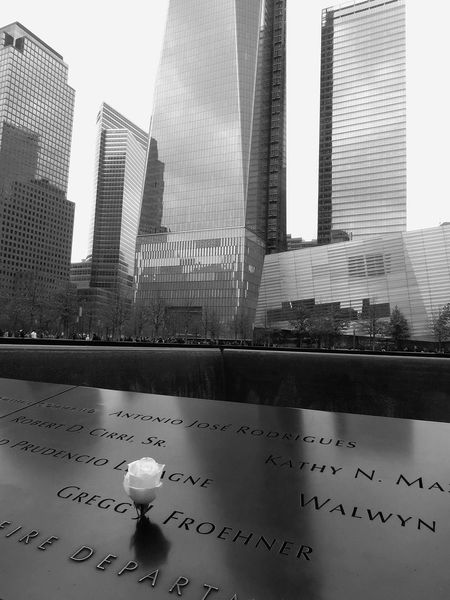 911 Memorial 911memorial 911worldtradememorial Architecture B&w B&W Collection B&w Photo B&w Photography Building Building Exterior Built Structure City Cityscape Modern Never Forget Office Building Solitude