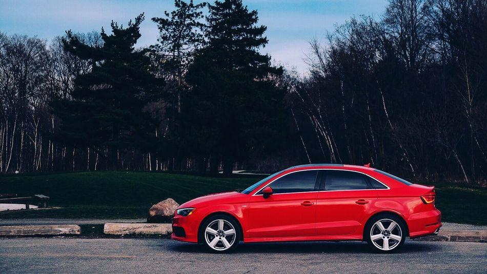 Red Audi Quattro Toronto Canada