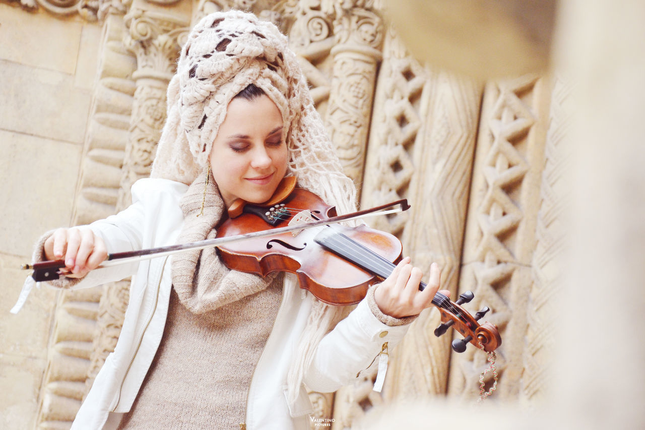 #budapest #portrait Beautiful People Beautiful Woman Beauty Day Long Hair Looking Down Music Musical Instrument Musician One Person One Woman Only One Young Woman Only Only Women Outdoors People Playing String Instrument Violin Violinist Women Young Adult Young Women