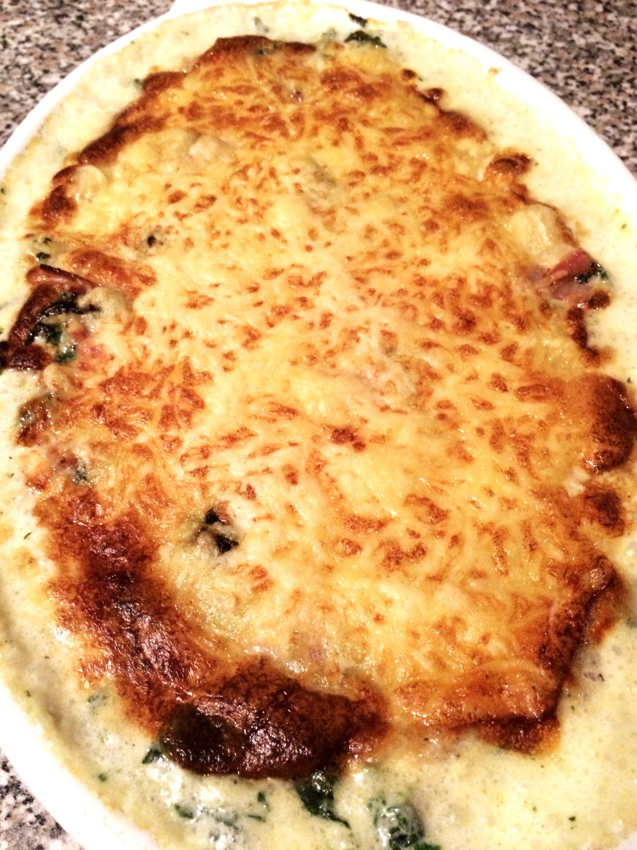 Food Ready-to-eat Iphone5s IPhoneography Enjoying Life Gnocci Auflauf Gorgonzola Spinat