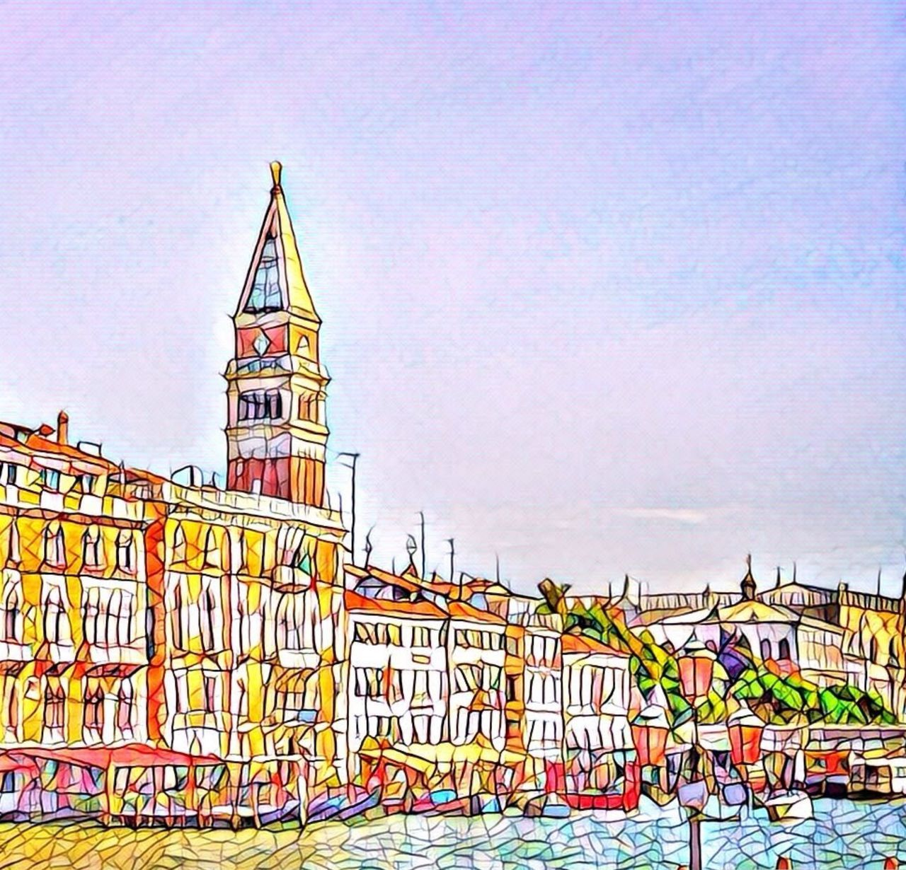 Day Sky No People Outdoors Summer Architecture City Sunlight Sunbathing Sketch Venice sketch