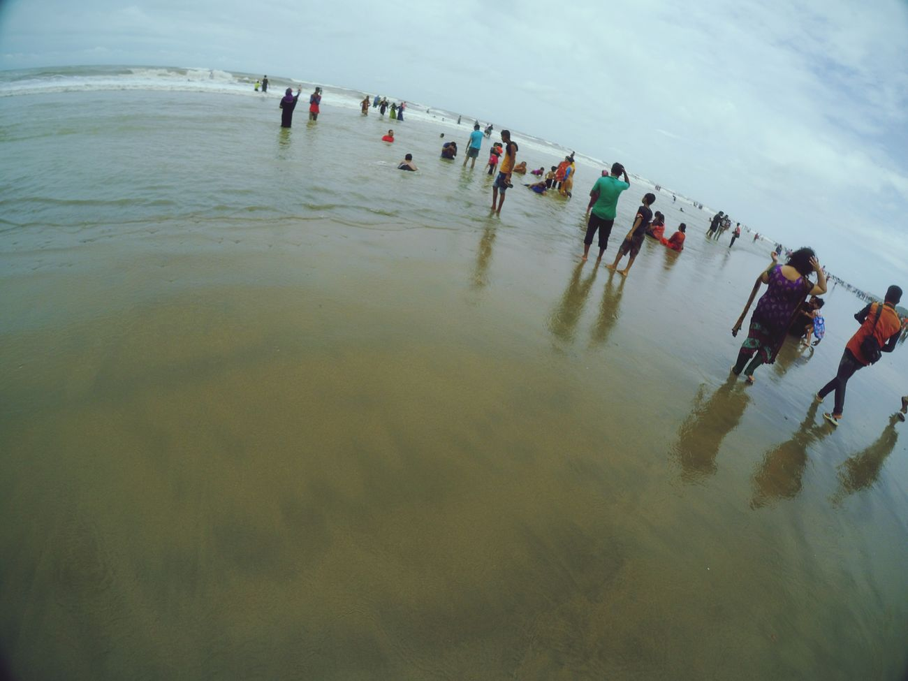 Bending the Horizon Coxsbazar sea beach Bangladesh