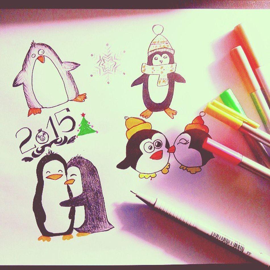 Penguins Cute Love Christmas пингвины люблю моипрелести ждуновыйгод любовь