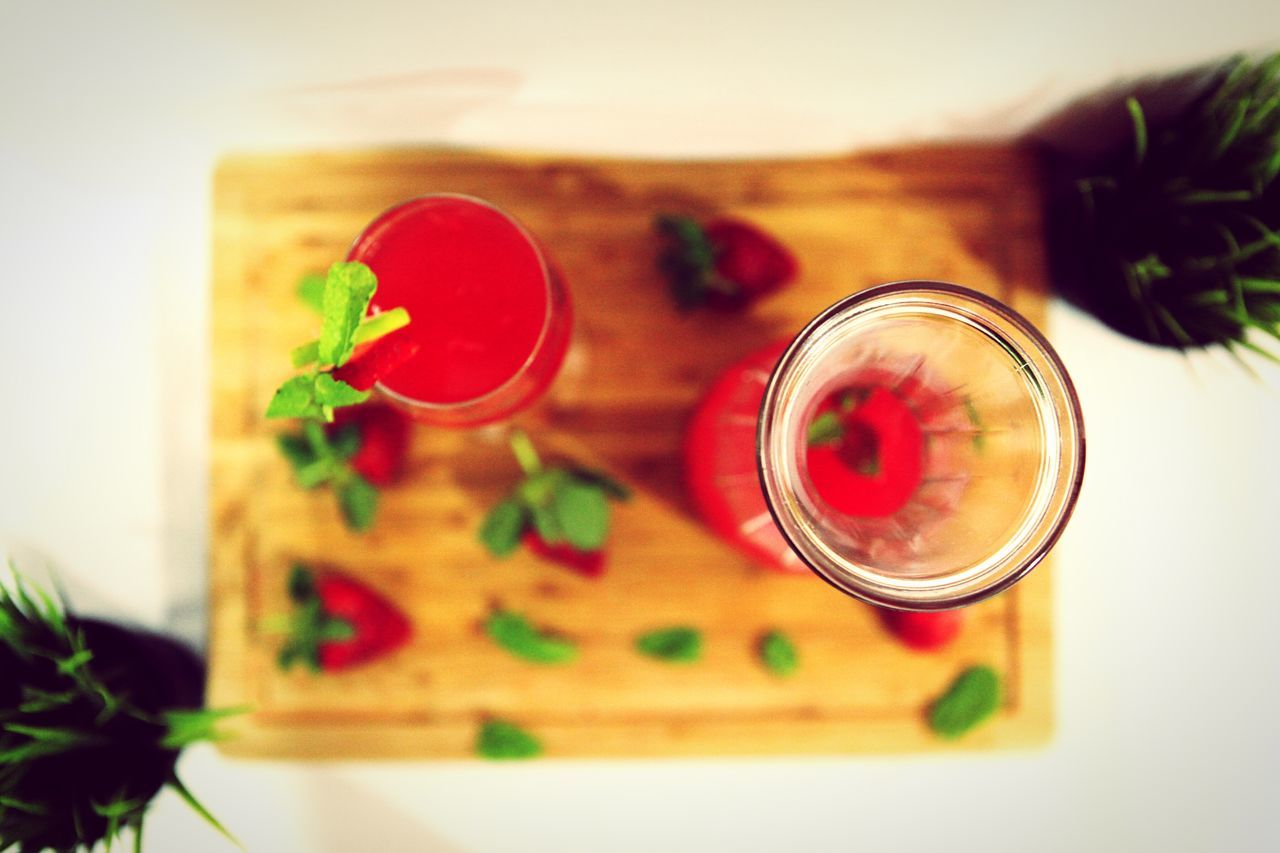 table, indoors, no people, close-up, food and drink, red, leaf, flower, freshness, food, day
