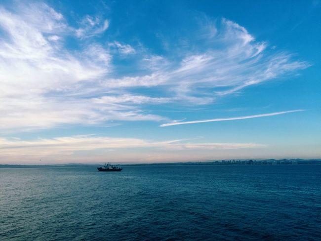 At anchor... Pacific Ocean Anchorage Sea Clouds Ships San Diego