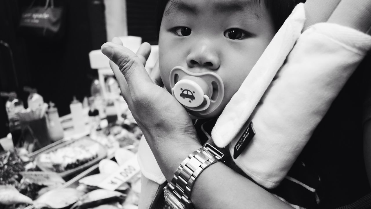 ASIA Baby Mom Japanese  Child Pacifier Market Up Close Street Photography