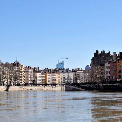 Lyon Only Lyon Eyelyon Citylife Saone River Modern Architecture Bridge Brücke Water Reflections