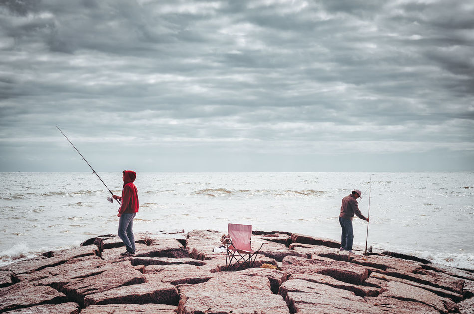 Beautiful stock photos of fishing, Atmospheric Mood, Beauty In Nature, Cloud - Sky, Cloudy