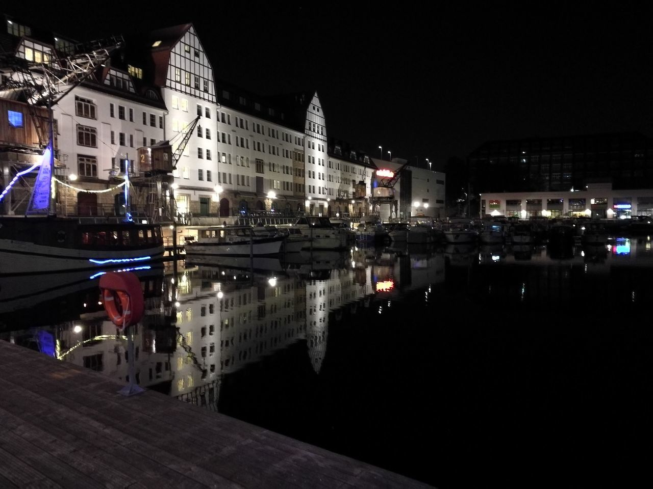 Berlin Tempelhof Tempelhofer Hafen City Life Water Architecture Canal Outdoors Night Reflection City First Eyeem Photo