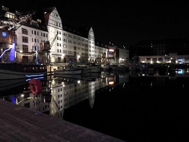 Berlin Tempelhof Tempelhofer Hafen City Life Water Architecture Canal Outdoors Night Reflection City First Eyeem Photo