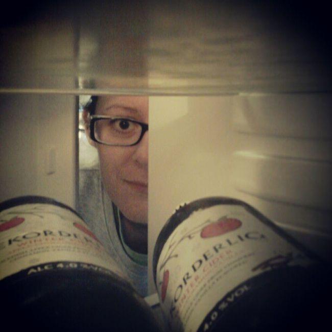 February photo-a-day challenge. Day 15. In the fridge. Fmsphotoaday Fridge Rekorderlig Cider