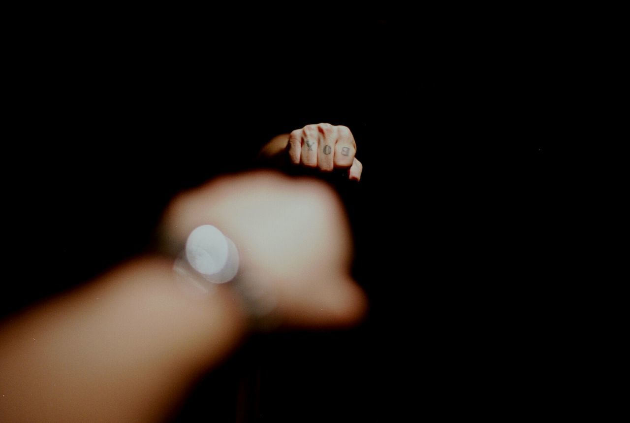 Fist Human Body Part Tattoo 35mm Film Filmisnotdead Ishootfilm Analogue Photography Analog Filmfeed EyeEm Best Shots Film Kodak 35mm Film Photography Human Hand Lowlight Mirror