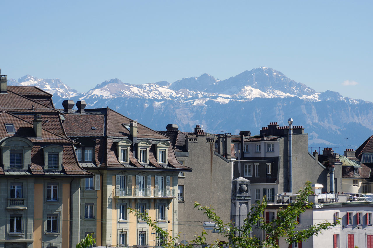 Lausanne's roofs - 2 Beautiful City Lausanne Mont Montains    Nature Old Town Roof Sightseing Snow Spring Switzerland Windows