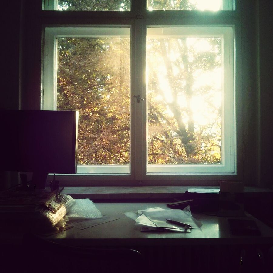 A desk doesn't clean itself. Papierkrieg with a view. Deutschland. Dein Tag