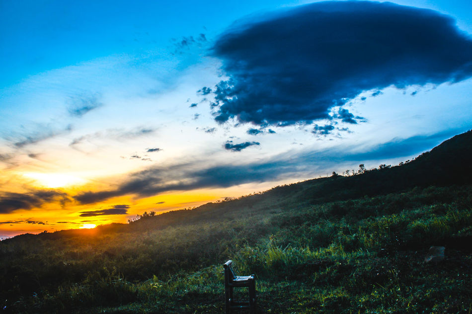 Sunset Sky Nature Cloud - Sky Beauty In Nature Scenics Outdoors Landscape Dramatic Sky No People Day Landscapes Mountain Mountain View Sunlight EyeEm Indonesia Chair