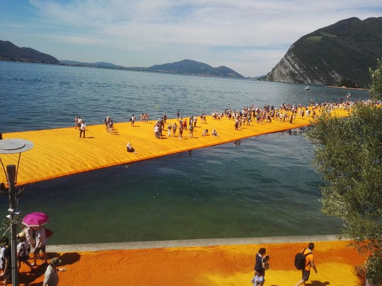 Be. Ready. Only Men Adult People Outdoors Water Large Group Of People Beach The Floating Piers Men Day Landscape Nature Sea Sky Flamingo Mammal Lago D'Iseo Doriano The Floating Piers By Christo Blue Lake Hawei P8 EyeEmNewHere