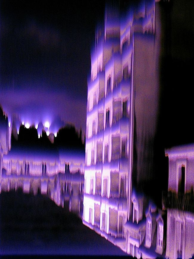 Camera malfunction Camera Malfunction Glitch Grenoble Night Photography No Edit/no Filter No People Purple Rain Showing Imperfection