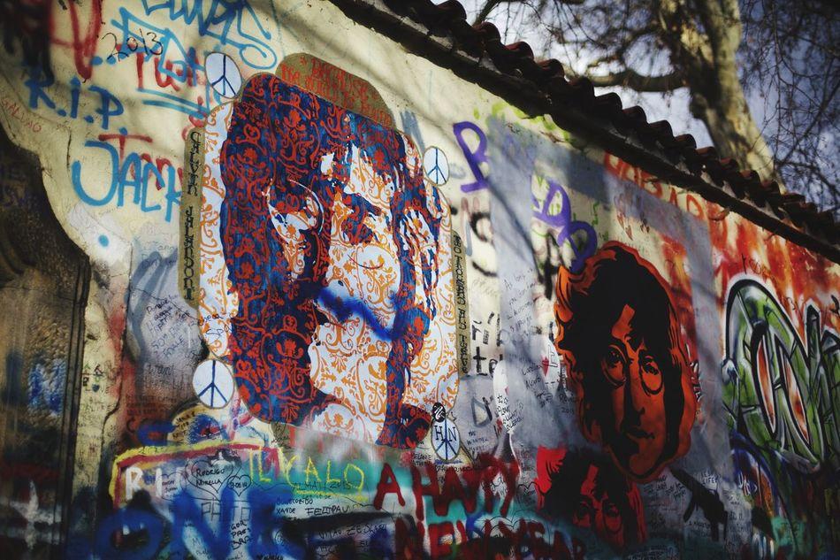 Colors Johnlenon Wall Prague