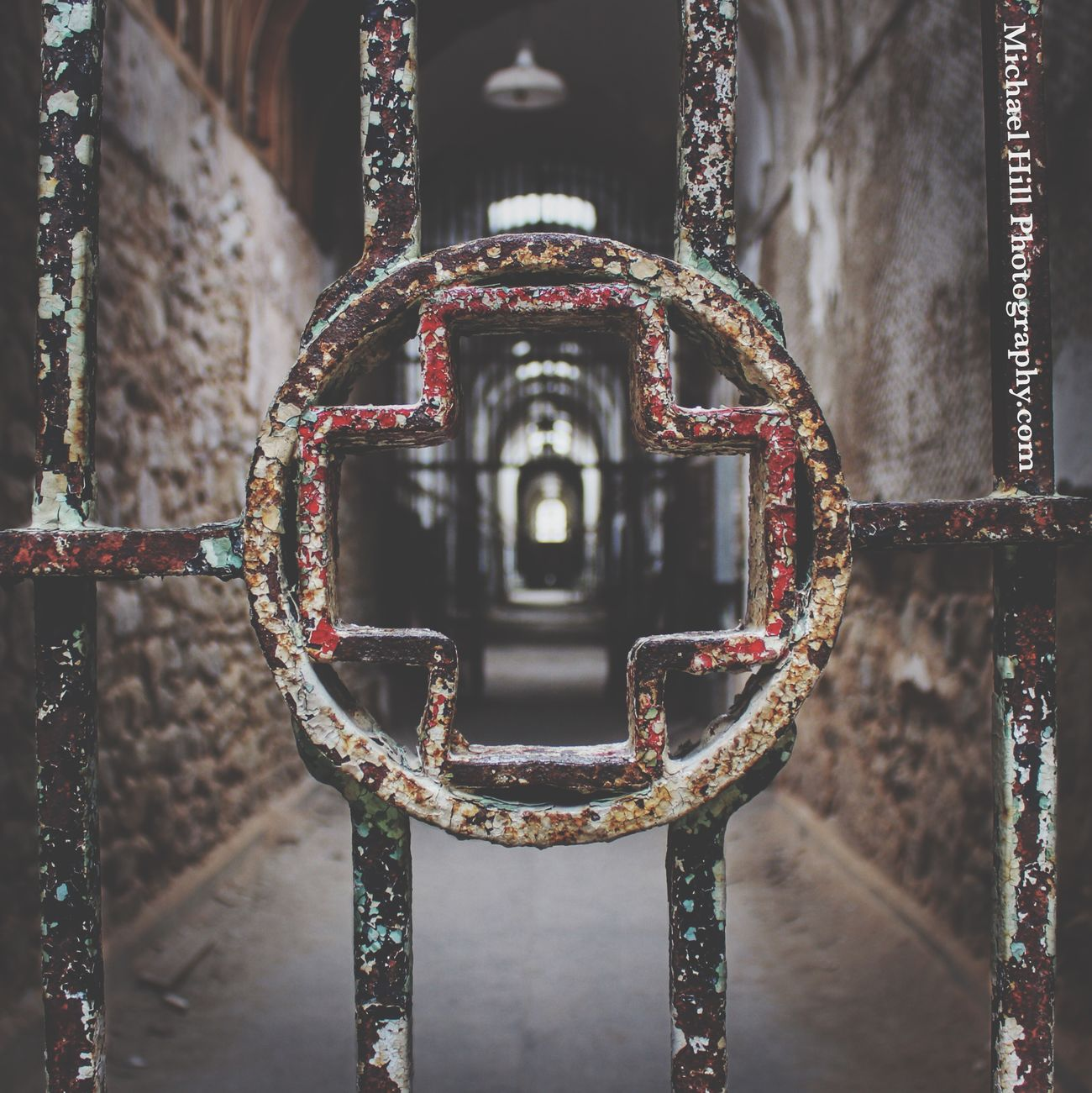 """""""Jesus loves you."""" A nice thing to hear if you go to church. A horrific thing to hear in a Mexican prison. EyeEm_abandonment Abandoned Urbex Urban Exploration Eastern State Penitentiary Rust Capture The Moment"""
