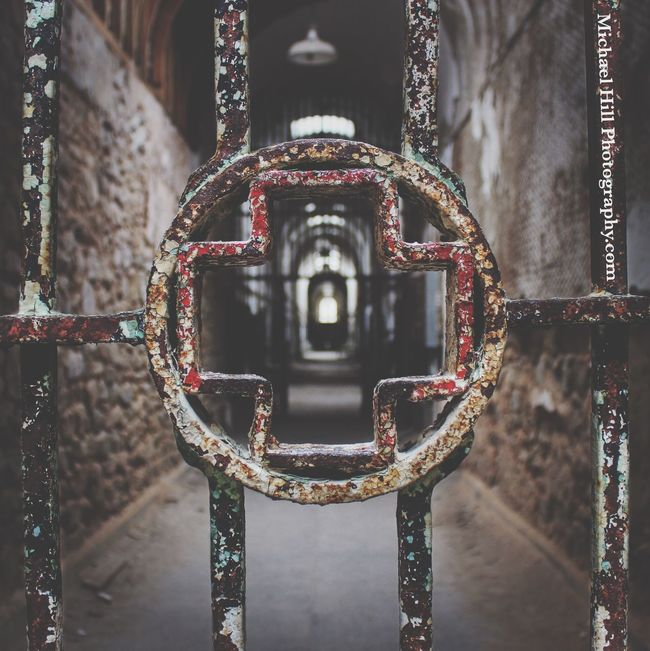 """Jesus loves you."" A nice thing to hear if you go to church. A horrific thing to hear in a Mexican prison. EyeEm_abandonment Abandoned Urbex Urban Exploration Eastern State Penitentiary Rust"