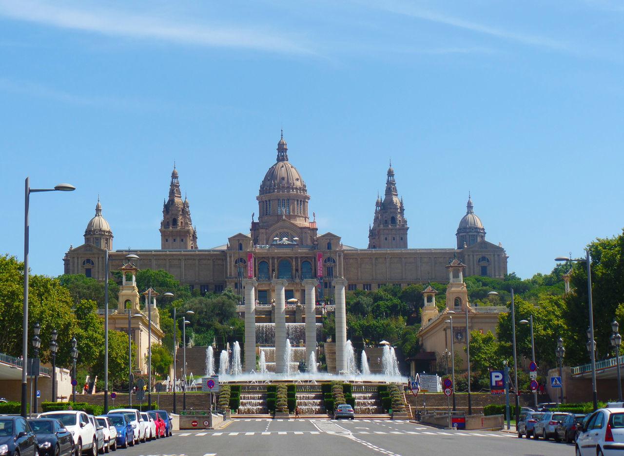 National Art Museum Of Catalonia Against Sky