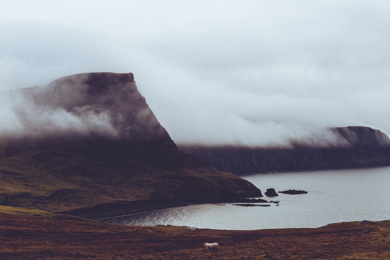 Isle of Skye, Scotland Cloudy Coast Fog Isle Of Skye Landscape Mist Moody Moody Sky Mountain Outdoors Scenics Scotland Sky Tranquility Water The Great Outdoors - 2017 EyeEm Awards