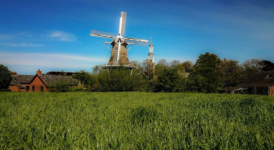 Dutch Landscape, Dutch Village, Old Church and Windmill, Landscape_photography, Place Of Birth, Childhood Memories