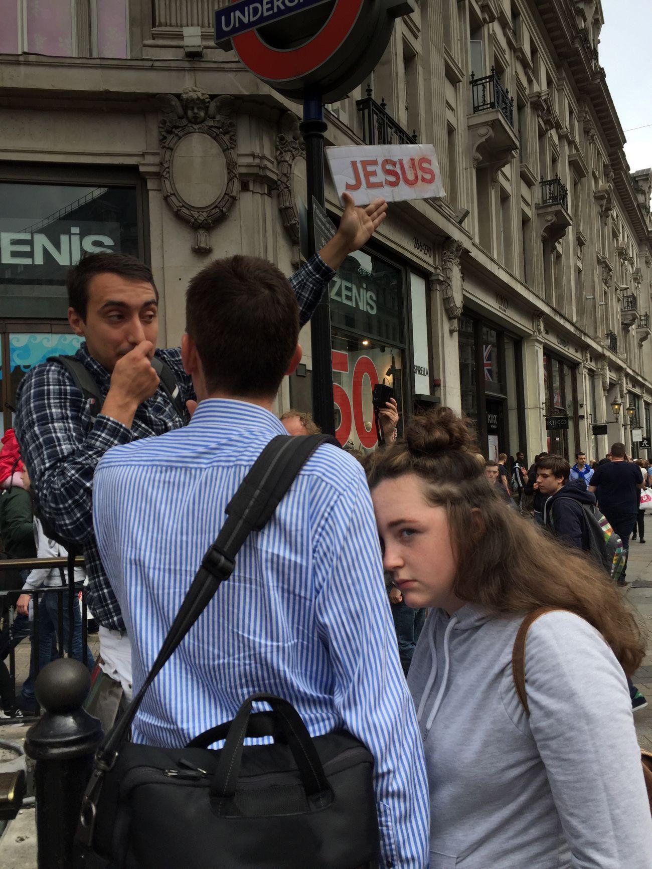 Streetphotography London IPhone Jesus