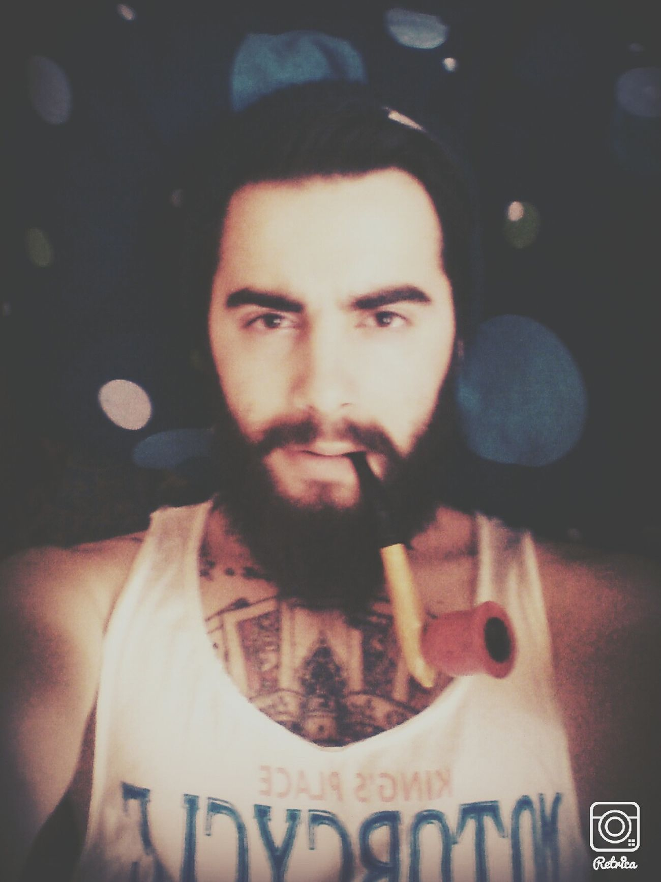 Tattoo Today's Hot Look Taking Photos Hello World Good Morning Beard Pipo Weed Self Portrait Light And Shadow