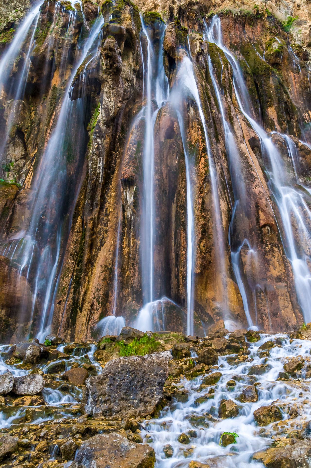 Margoon Waterfall in Fars, Iran Beauty In Nature Blurred Motion Environment Falling Water Flowing Flowing Water Long Exposure Margoon, Iran Motion Nature Non-urban Scene Outdoors Power In Nature Rock - Object Rock Formation Scenics Travel Destinations Water Waterfall