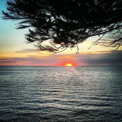 When the sun touched the Mediterranean Sea. #Sunset #PortDeSóller #Mallorca #Spain Sunset SPAIN Mallorca Portdesóller