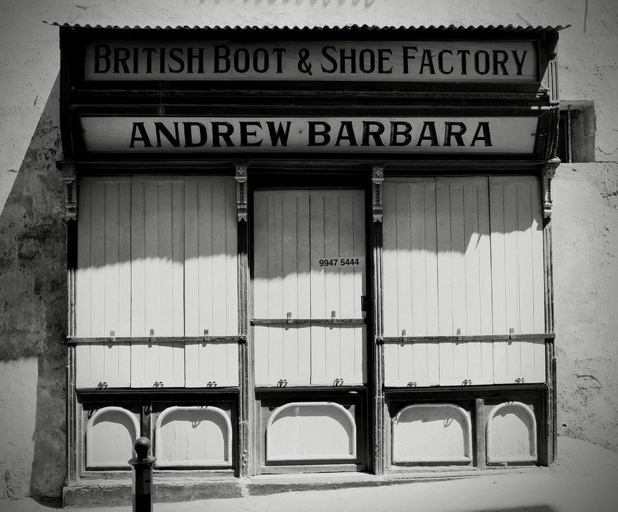 Text Built Structure Building Exterior Shop Front Shop Fronts Valletta,Malta Valletta Malta Shoe Factory Rustic Style Rustic Charm