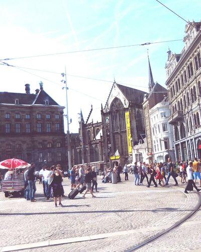 Amsterdam Damsquare Amsterdam Damsquare NieuweKerk Nieuwe Kerk Kerk Paleis Op De Dam