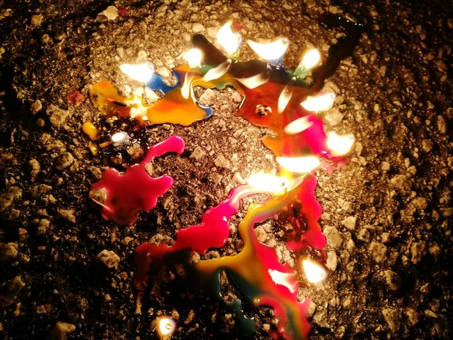 Outdoors Colorful Tanglung Lantern Festival Lantern Candlelight Candlestick Candle Lighting  Happymoonfestival Happymooncakeday