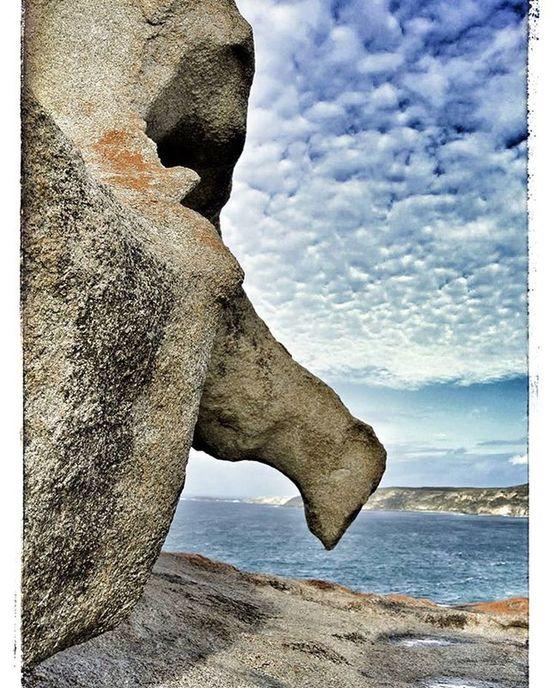 Clouds Rocks Nuages Rocks Rocher Mer See Visage Face