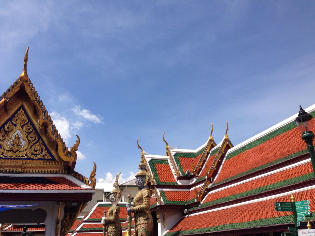 Architectural Feature Architecture Blue Built Structure Cloud Cloud - Sky Culture Cultures Day Design High Section Low Angle View No People Ornate Outdoors Place Of Worship Roof Sky Temple Temple - Building The Architect - 2016 EyeEm Awards