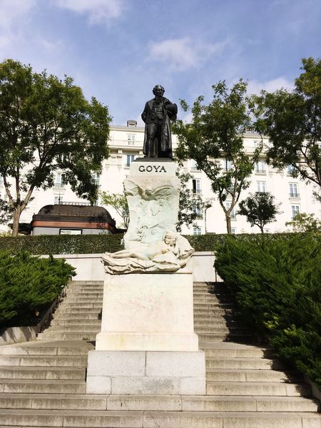 Good morning Mr. Goya Great Artists Genius Painter Statue Sculpture Human Representation Male Likeness Art And Craft Tree Creativity Sky Monument Day Memorial No People Outdoors Built Structure Architecture Nature
