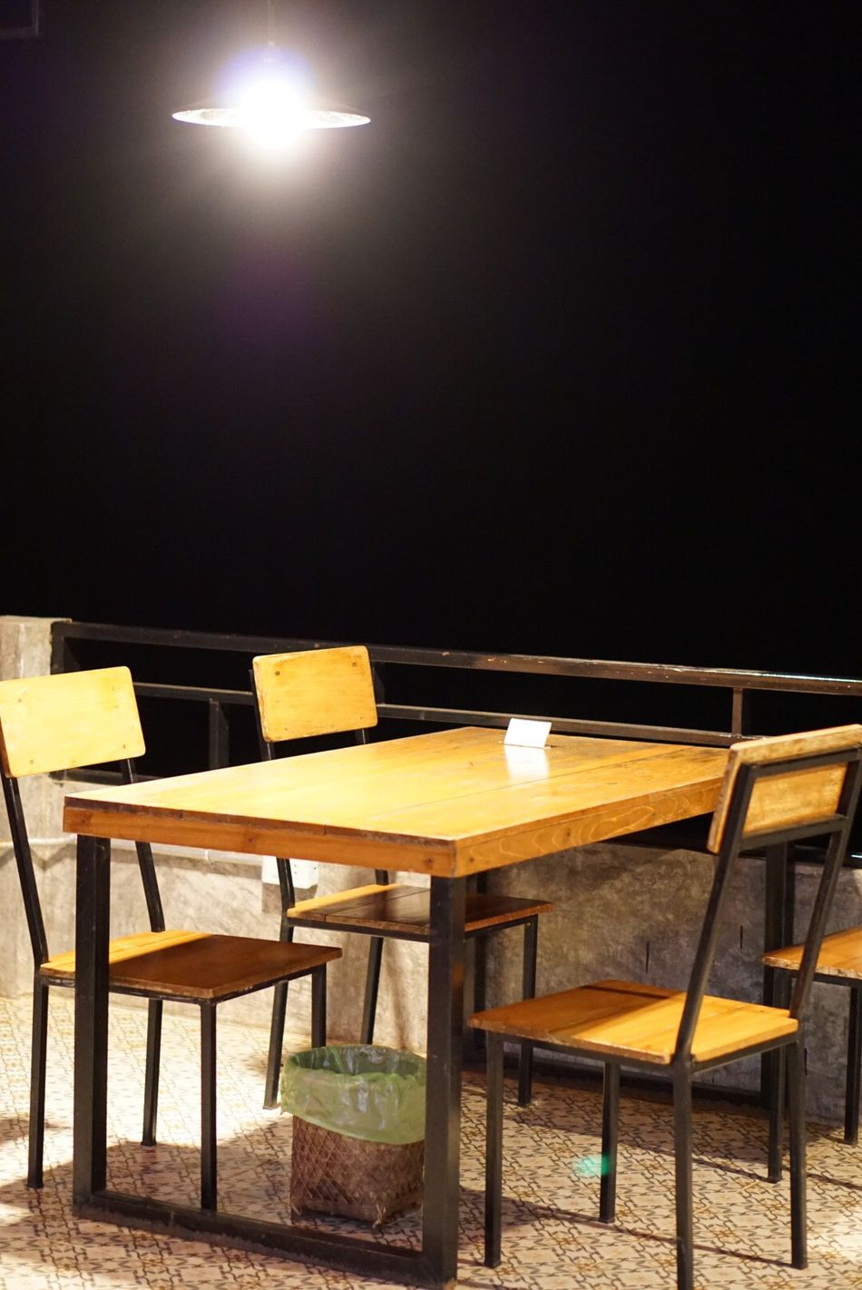 Chair Table No People Lighting Equipment Wood - Material Illuminated Indoors  Seat Auditorium Day Dinner Chiangrai Goodtime