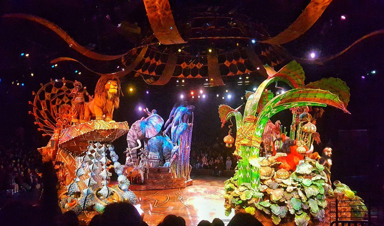 Disney Disney Musical Disneyland Disneyland Hongkong Festival Lion King  Musical Night Performance Simba Stage Timon And Pumba