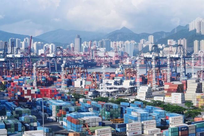 Hong Kong City logistic port Architecture City Cityscape City Life Logistics Logistic Industrial Industry Port Harbour Harbor Business Import Export Goods Merchandise Trade Battle Of The Cities