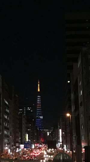 Illuminated Night Architecture Building Exterior Built Structure Tall - High City Skyscraper Street Light Modern Cityscape No People