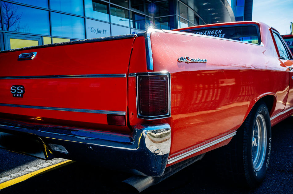 Chevrolet City Day El Camino Land Vehicle Mode Of Transport No People Outdoors Red Stationary Transportation