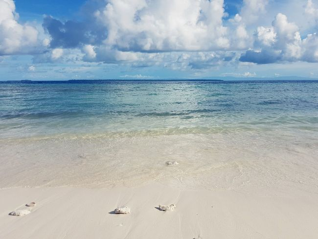Beach Sea Horizon Over Water Shore Sand Cloud - Sky Nature Seascape Calm Summer Idyllic Biak Papua Indonesia