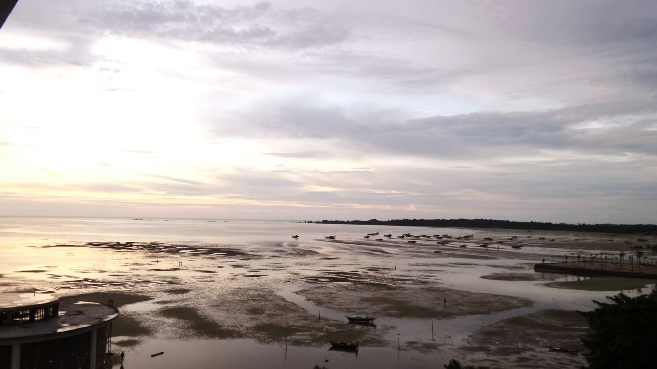 Good Afternoon Sunset Sand Nature Sky Cloud - Sky Horizon Over Water Beach Beauty In Nature Belitung Island